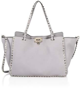 Valentino Rockstud Grain Leather Tote Bag