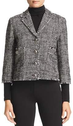 Marella Gommoso Fringed Houndstooth Tweed Jacket