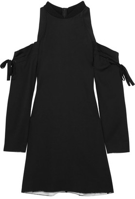 DKNY - Cutout Satin Mini Dress - Black $500 thestylecure.com