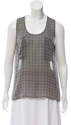 Giorgio Armani Sleeveless Plaid Top