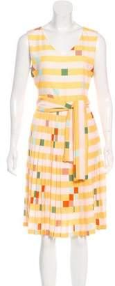 Fendi Geometric Plissé Dress