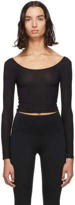Wone Black Satin T-Shirt
