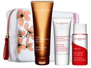 Clarins DIY Tan Way to Glow Self-Tanning Set