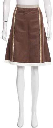 Alberta Ferretti Embellished Knee-Length Skirt