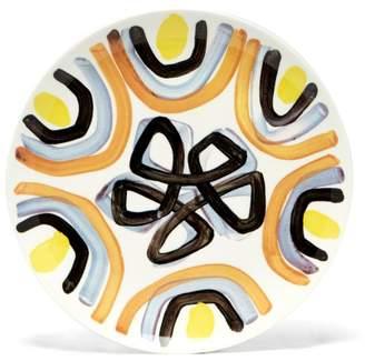 Peter Pilotto Painted Ceramic Plate - Orange Multi
