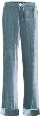 F.R.S For Restless Sleepers Etere silk velvet trousers