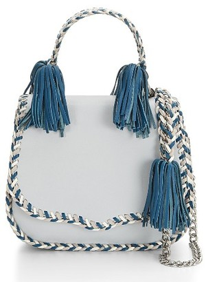 Rebecca Minkoff Chase Leather Saddle Bag - Blue $295 thestylecure.com