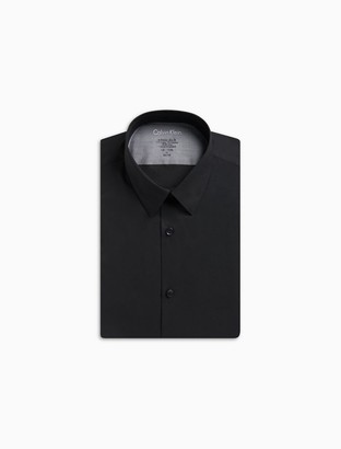 Calvin Klein x fit ultra slim fit solid point collar dress shirt