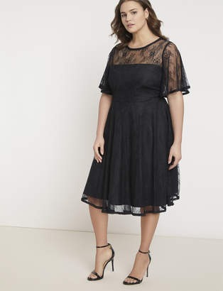 Jason Wu/ELOQUII Pleated Lace Dress