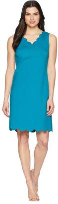 Nine West A-Line Dress w/ Scallop Neckline Women's Dress