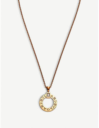 Bvlgari 18kt pink-gold and diamond necklace