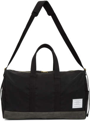 Thom Browne Black and Grey Unstructured Hold All Bag