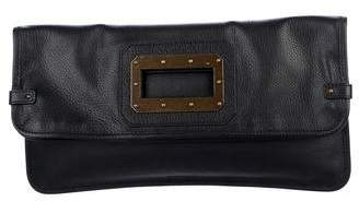Tomas Maier Fold-Over Leather Clutch