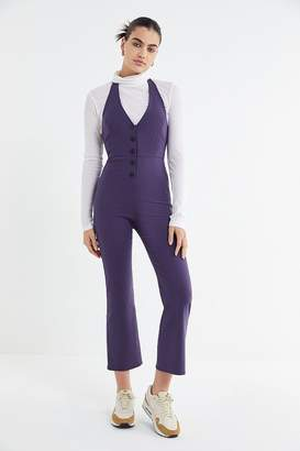 Urban Outfitters Nico Button-Front Halter Jumpsuit