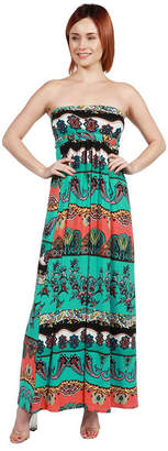 24/7 Comfort Apparel 24Seven Comfort Apparel Laura Pink Floral Mini Dress - Plus