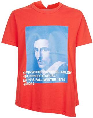 Off-White Off White Asymmetrical Bernini T-Shirt