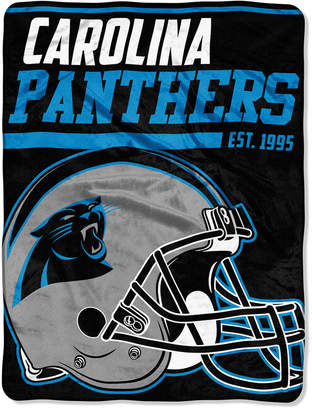 "Northwest Company Carolina Panthers Micro Raschel 46x60 ""40 Yard Dash"" Blanket"