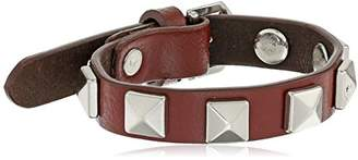 Rebecca Minkoff Single Row with Pyramid Studs Leather Bracelet