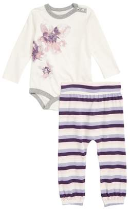 Burt's Bees Baby Exploded Petals Organic Cotton Bodysuit & Leggings Set