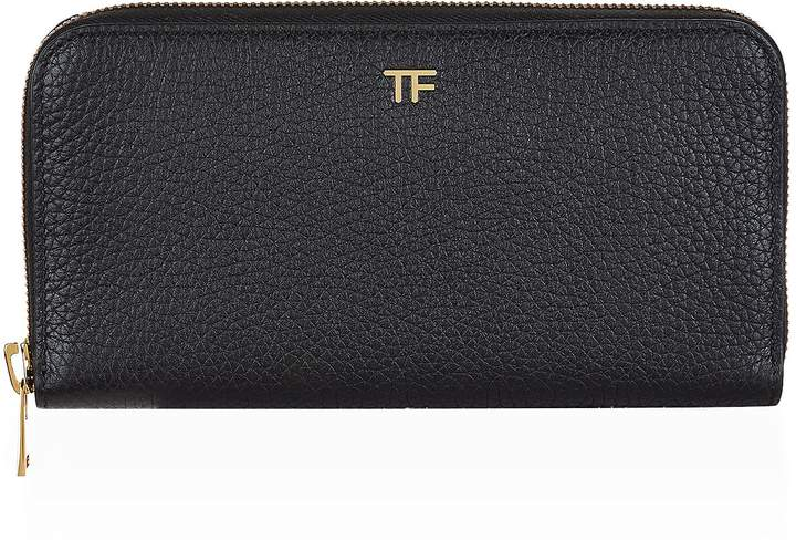 TOM FORD Continental Zipped Wallet, Black, One Size