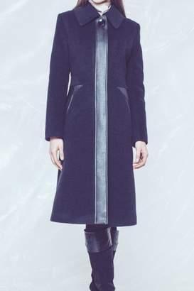 Andrea Martiny Faux Leather Coat