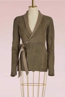 Rick Owens Shearling wrap jacket