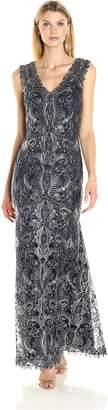 Tadashi Shoji Women's V-Neck Corded Lace Gown