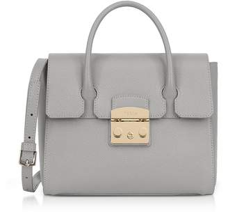 Furla Genuine Leather Metropolis Small Satchel Bag