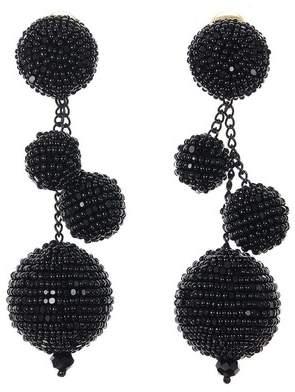 Oscar de la Renta Spinel Beaded Ball Earrings
