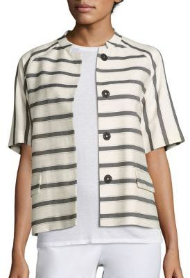 Lafayette 148 New York Ethan Striped Jacket $448 thestylecure.com