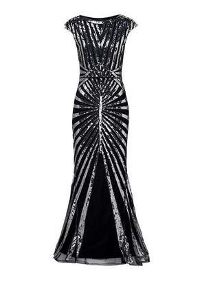 464b16daf93 General Formal Evening Dress 1920s Sequin Mermaid Maxi Long Flapper Gown  Party (