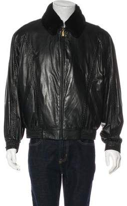 Zilli Ely Silk-Lined Leather Jacket