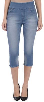 LOLA JEANS Erica High-Rise Pull-On Denim Capri Jeans