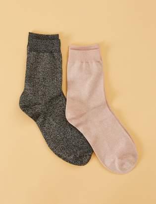 Crew Socks 2-Pack - Shimmer