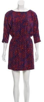 Rebecca Minkoff Silk Printed Mini Dress