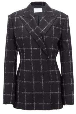 BOSS Hugo Gallery Collection oversized-fit jacket in a wool 2 Patterned