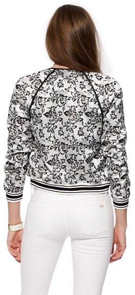 Juicy Couture Floral Jacquard Bomber Jacket