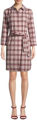 Burberry Lace Collar Shirtdress