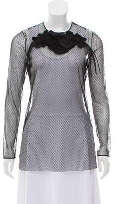 Gucci Embellished Net Top