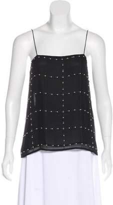 Paige Novick Embellished Silk Top