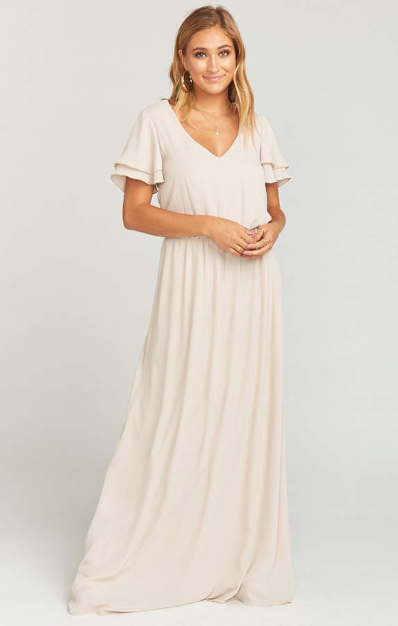 Show Me Your Mumu Michelle Maxi Dress ~ Show Me the Ring Crisp