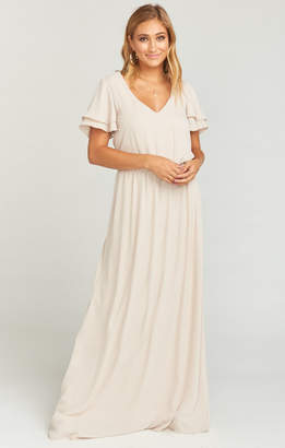 Show Me Your Mumu Michelle Maxi Dress ~ Show Me the Ring Crisp