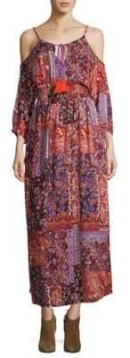 Raga Sunset Vista Cold-Shoulder Maxi Dress