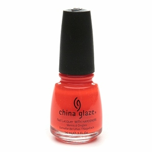 China Glaze Neon Nail Laquer with Hardeners, Flying Dragon #1011