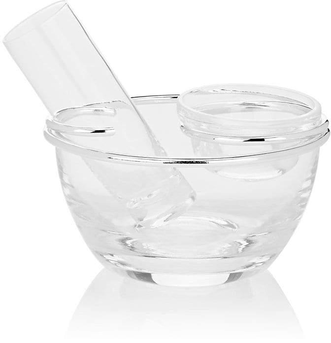 Crystal Small Caviar Server With Vodka Glass