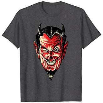 Vintage Halloween Devil Head T-Shirt