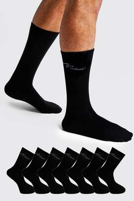 boohoo MAN Signature 7 Pack Sport Socks