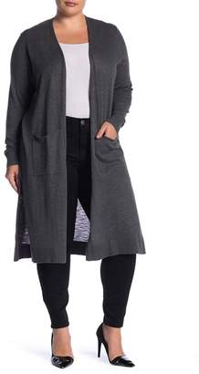 Susina Space Dye Cardigan (Plus Size)