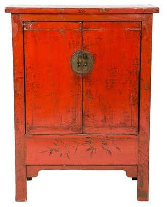 Lacquered Wood Chinese-Style Cabinet