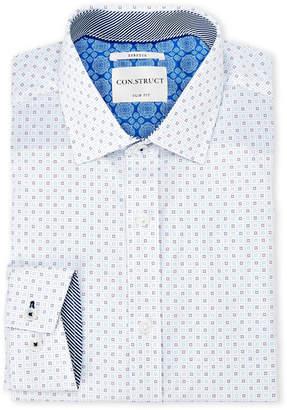 English Laundry Con.Struct Star Print Stretch Slim Fit Dress Shirt